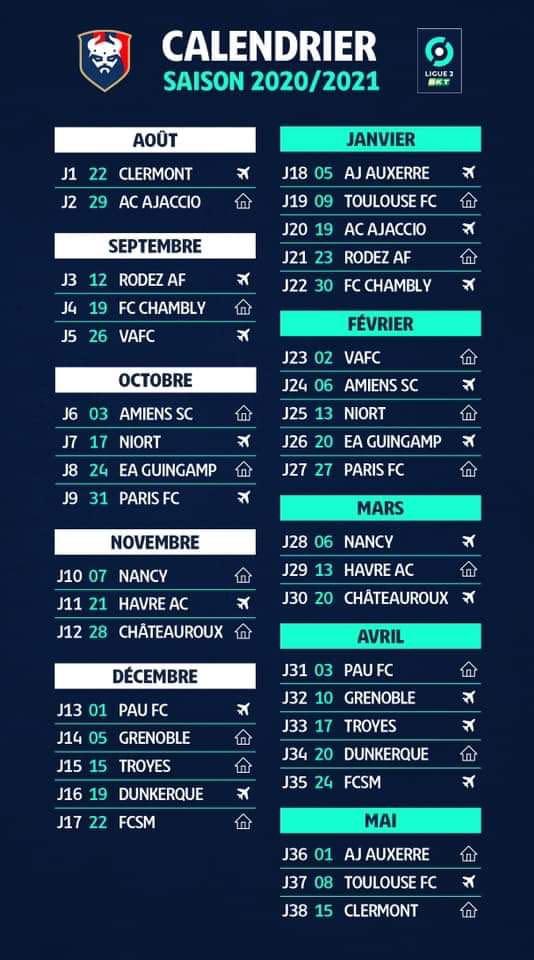 Découvrez le calendrier 2020 / 2021 du Stade Malherbe Caen | infos