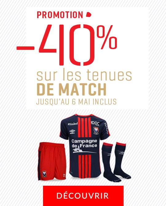 -40% tenues de match