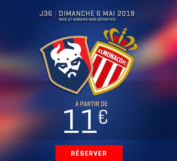 Billetterie Caen / Monaco