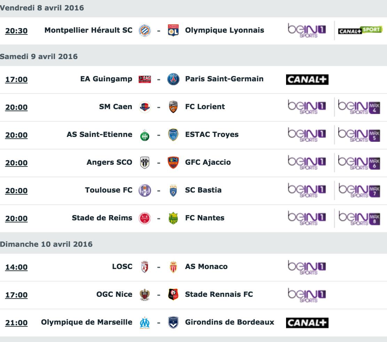 [33e journée de L1] SM Caen 1-2 FC Lorient Capture_decran_2016-04-06_a_11.10.27