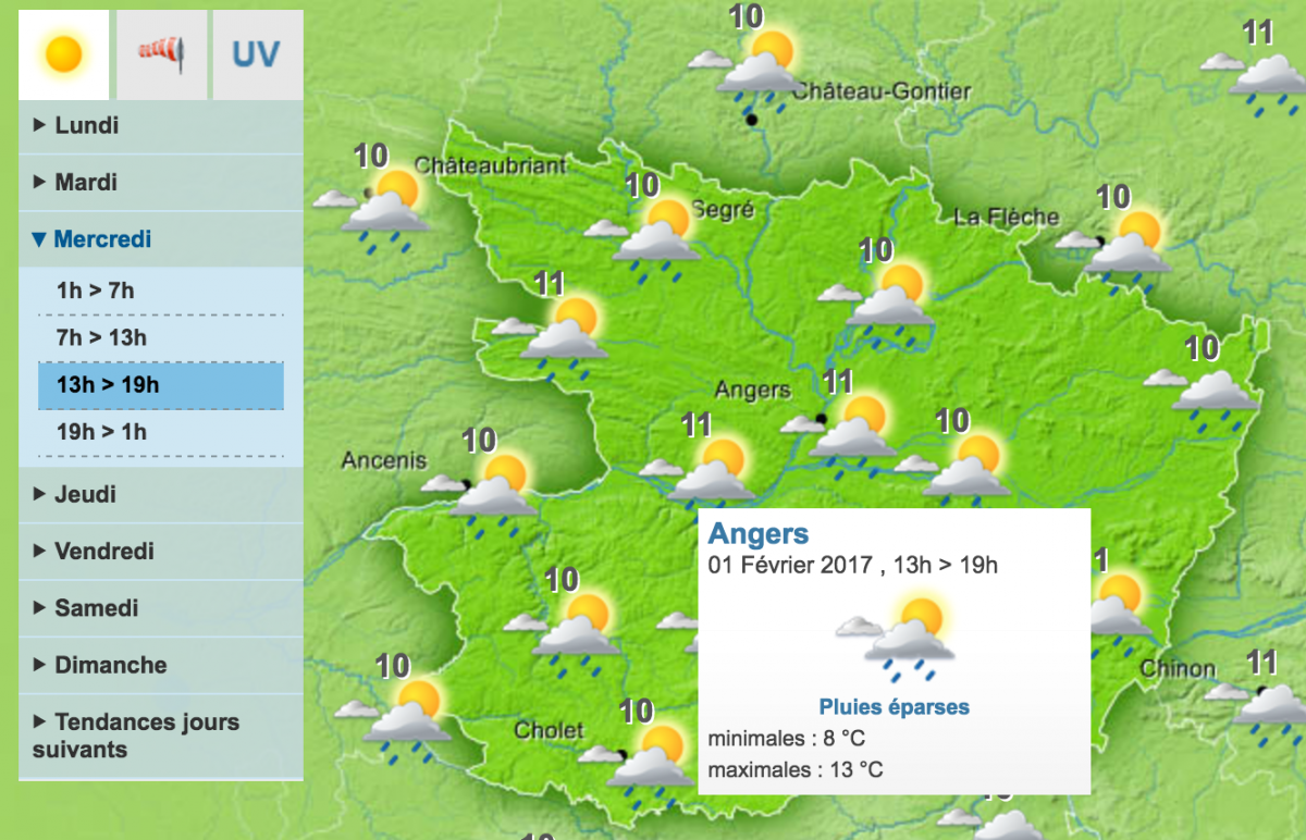 Meteo France Angers Cheap Angers With Meteo France Angers