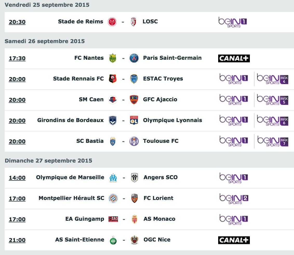 [8e journée de L1] SM Caen 2-0 GFC Ajaccio Programmation_tv