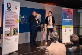 Jean-Luc Pignol, président de l'association et Paul Martin, salarié de l'association ont présenté les formations proposées par l'école technique privée du Stade Malherbe Caen