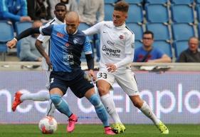 Après avoir repris la course il y a un mois, Valentin Voisin, ici, lors du match amical au Havre en octobre, va recommencer à toucher le ballon à partir du 15 avril.