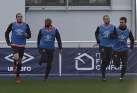 Forfait pour la réception de Montpellier, Enzo Crivelli et Damien Da Silva - ici, avec Baïssama Sankoh et Vincent - sont espérés de retour à l'entraînement pour mercredi.