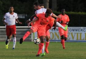 Face au PFC, Evens Joseph a ouvert le score pour les U19 nationaux du Stade Malherbe. ©Photo d'archives