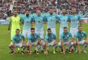 Contre l'Ecosse, Jan Repas (au premier rang, en bas à gauche) a connu sa première titularisation avec l'équipe nationale de Slovénie.
