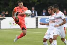 Pour cette première journée de championnat face à Montpellier, Jonathan Delaplace - ici, lors de la préparation contre Lorient - devrait être associé au milieu de terrain au capitaine Julien Féret et au jeune Durel Avounou.