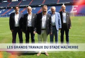 Fabrice Clément, Jacky Rihouet, Jean-Yves Mercier et Jean-Marie Piranda composent le nouveau Directoire du Stade Malherbe avec le président Gilles Sergent.