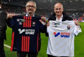 Jean-François Fortin, Président du Stade Malherbe, et Jacky Rihouet, Président Intersport France et Belgique.