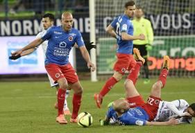Lors de la dernière visite de l'ESTAC à d'Ornano en mars 2016, le Stade Malherbe s'était imposé 2-1 grâce, entre autres, à un but de la tête d'Alaeddine Yahia sur un corner de Julien Féret