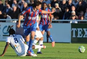 """Désormais entraîneur adjoint à Amiens, Romain Poyet (36 ans) a porté le maillot """"Bleu et Rouge"""" pendant 18 mois (août 2012 - janvier 2014), marquant cinq buts en 36 apparitions."""