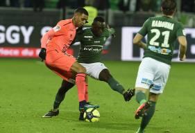 """Face aux """"Verts"""", le cinquième but de Ronny Rodelin - auteur de l'ouverture du score - en championnat cette saison n'a pas suffi."""