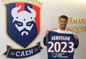 Après avoir signé son premier contrat professionnel il y a moins d'un an, Yoël Armougom vient de prolonger avec le Stade Malherbe Caen