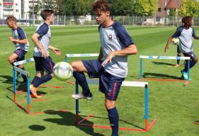 Kilian Denoual occupait l'axe de la défense aux côtés de Joé Kobo hier lors de la victoire sur le terrain du FC St-Lô
