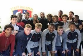 Le groupe U18 / U19 du Stade Malherbe Caen a pu retenir les conseils donnés par Ohplai lors de son passage la semaine dernière