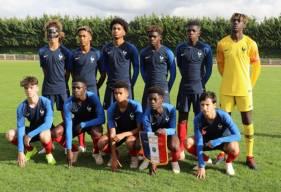 Destiné Jpanguy était dans le but de l'équipe de France U16 pour ce match de classement face à la Côte-d'Ivoire
