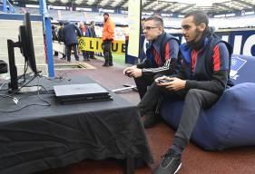 Les deux représentants du Stade Malherbe lors du tournoi d'hiver de la Orange eLigue 1 la saison dernière