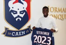 Après avoir rejoint le Stade Malherbe en 2015, Godson Kyeremeh s'est engagé jusqu'en juin 2023