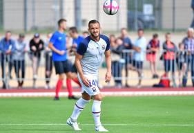 Jonathan Gradit est titulaire pour ce match amical après ses premières minutes avec le Stade Malherbe face au Havre AC vendredi soir