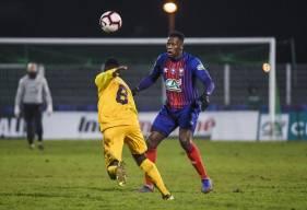 Malik Tchokounté a profité de ce 16e de Coupe de France pour inscrire son premier but avec le Stade Malherbe Caen
