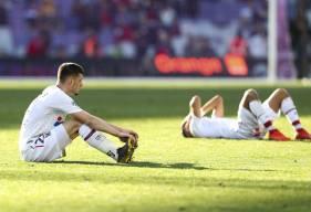 La déception des caennais qui pensaient arracher le premier succès du Stade Malherbe Caen en Ligue 1 Conforama en 2019