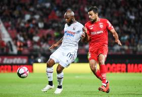 Baisama Sankoh et le Stade Malherbe ont obtenu une de leur quatre victoires sur la pelosue du Dijon FCO lors du match aller