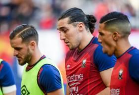 La concentration de Fayçal Fajr, Jonathan Gradit et Enzo Crivelli avant d'affronter le RC Strasbourg hier après-midi