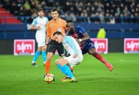 Ismaël Diomandé et les caennais ont réussi à bien vérouiller les accélérations de Florian Thauvin hier après-midi