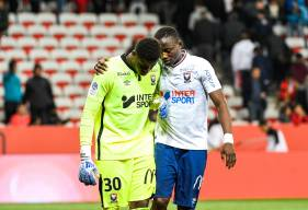 Brice Samba décisif hier soir s'est montré déterminé après la rencontre pour accrocher le maintien avec le Stade Malherbe Caen
