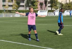 Ici à l'entraînement, Johann Lepenant a inscrit le troisème but des U17 Nationaux le week-end dernier sur la pelouse de Quevilly