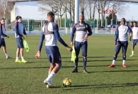 Absent depuis début janvier, Emmanuel Imorou a fait son retour à l'entraînement collectif ce mardi après-midi