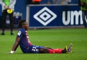 La déception de Casimir Ninga après la rencontre face au Paris-Saint-Germain samedi après-midi à d'Ornano