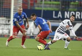 Nicolas Seube et les joueurs du Stade Malherbe Caen s'imposait (1-0) lors de la dernière journée face aux Girondins en 2016