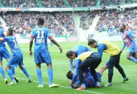 Lors de la série sans défaite à d'Ornano en 2014, le Stade Malherbe Caen s'était imposé en fin de rencontre face à l'AJ Auxerre