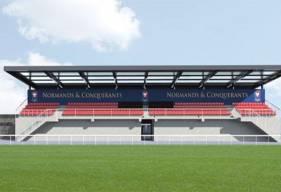 La future tribune de l'annexe 3 de Venoix permettra d'accueillir les compétitions des U17 & U19 Nationaux ainsi que l'équipe réserve