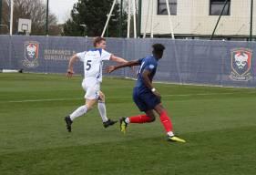 Brice Tutu a trompé deux fois la défense du FC Dieppe pour offrir la victoire aux joueurs de l'équipe réserve samedi après-midi