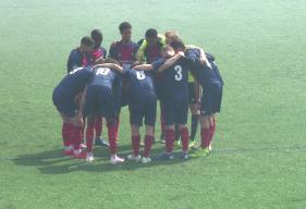 Les U17 Nationaux du SM Caen juste avant le début de la rencontre face au voisin du Havre