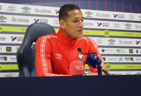 Yacine Bammou a fait part de son plaisir d'évoluer au Stade Malherbe Caen depuis le début de saison face aux journalistes ce midi