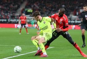 Hugo Vandermersch et les Caennais ont réussi à revenir au score à dix minutes de la fin après une seconde période maîtrisée © EA Guingamp