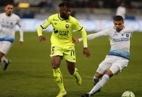 Steeve Yago et le Stade Malherbe Caen ont dû s'incliner sur corner après avoir ouvert le score en début de seconde période ©AJA