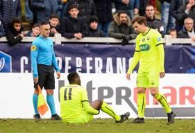 Sorti sur blessure samedi face à Chartres, Malik Tchokounté est déjà de retour à l'entraînement avec le reste du groupe