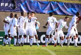 Le Stade Malherbe Caen a rapidement ouvert le score après un corner repris par Nicholas Gioacchini (10')