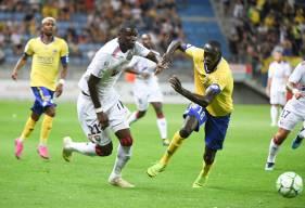 Brice Tutu a effectué trois apparitions en Domino's Ligue 2 cette saison dont une première à Sochaux