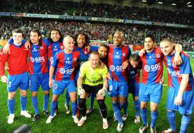 La joie des Caennais après la victoire face au Nîmes Olympique en 2010 au Stade Michel d'Ornano