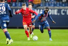 Caleb Zady Sery auteur de deux passes décisives pour Jessy Deminguet ce soir face au Mans FC à d'Ornano