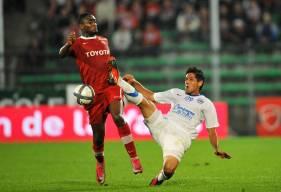 Pablo Barzola lors du revers (2-1) sur la pelouse de Valenciennes en 2010, en Ligue 1 Conforama