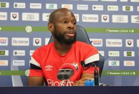Baisama Sankoh, meilleur buteur du Stade Malherbe Caen cette saison était en conférence de presse ce vendredi midi