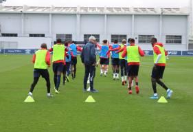 Reprise de l'entraînement ce lundi après-midi pour les joueurs du Stade Malherbe Caen