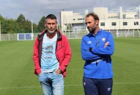 Julien Féret aux côtés de Cédric Hengbart qu'il a affronté à de nombreuses reprises au cours de sa carrière